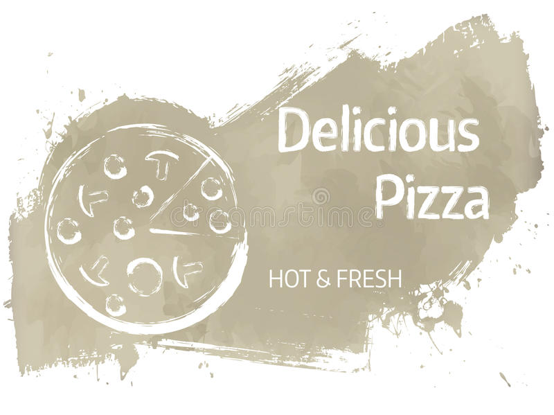 Pizza grunge banner vector illustratie