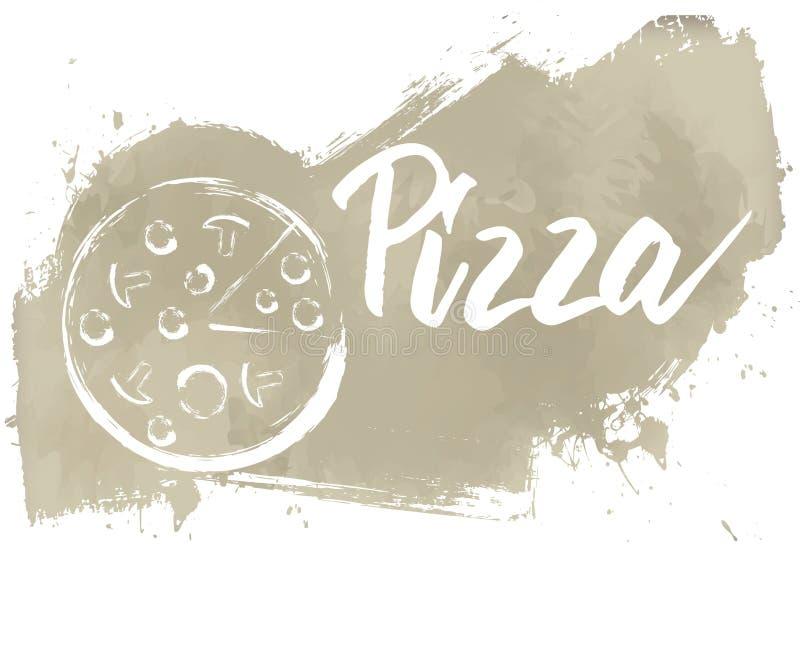 Pizza grunge banner stock illustratie