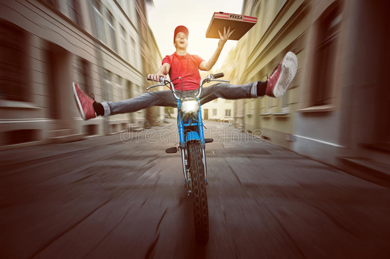 Pizza Guy royalty free stock photography