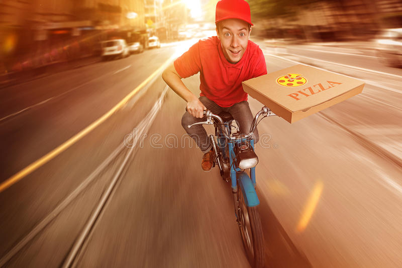 Pizza Guy stock photography