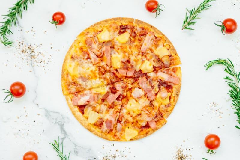 Pizza havaiana fotos de stock royalty free