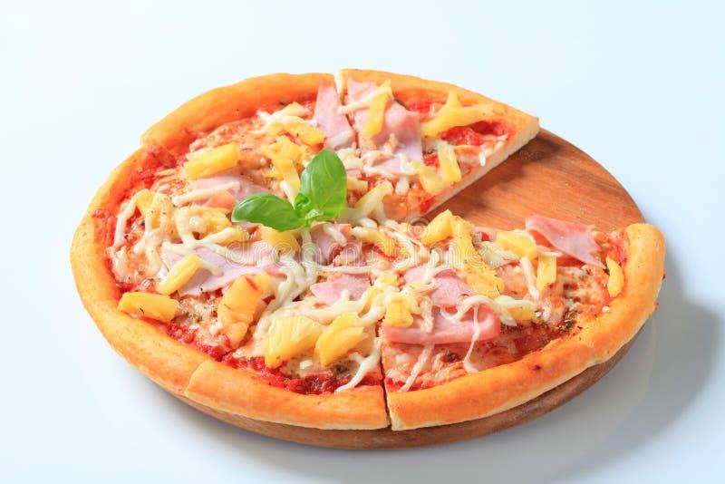 Pizza Hawaï stock foto's
