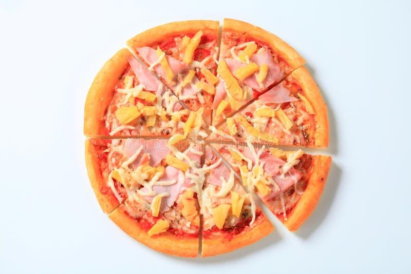 Pizza Hawaï royalty-vrije stock afbeelding