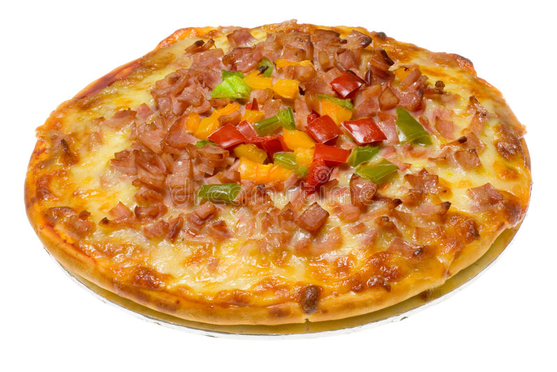 Pizza hawaïenne image libre de droits