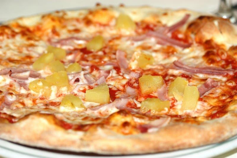 Pizza hawaiana fotografia stock