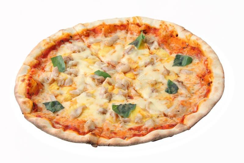 Pizza hawaiana fotografie stock