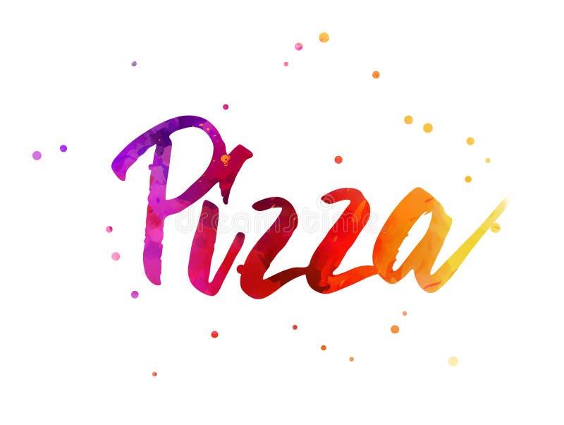 Pizza het Van letters voorzien royalty-vrije illustratie