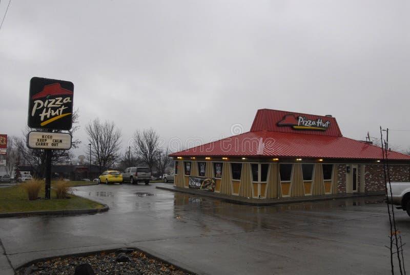 Pizza Hut fotografie stock libere da diritti