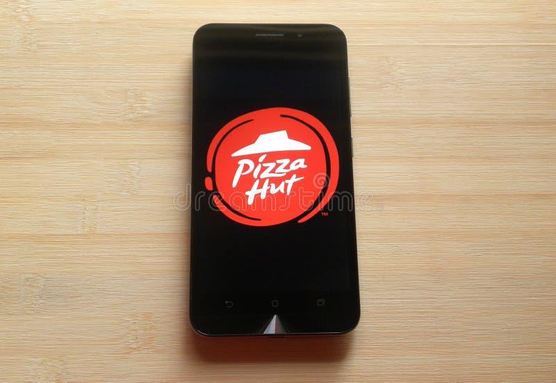 Pizza Hut app στοκ εικόνες με δικαίωμα ελεύθερης χρήσης