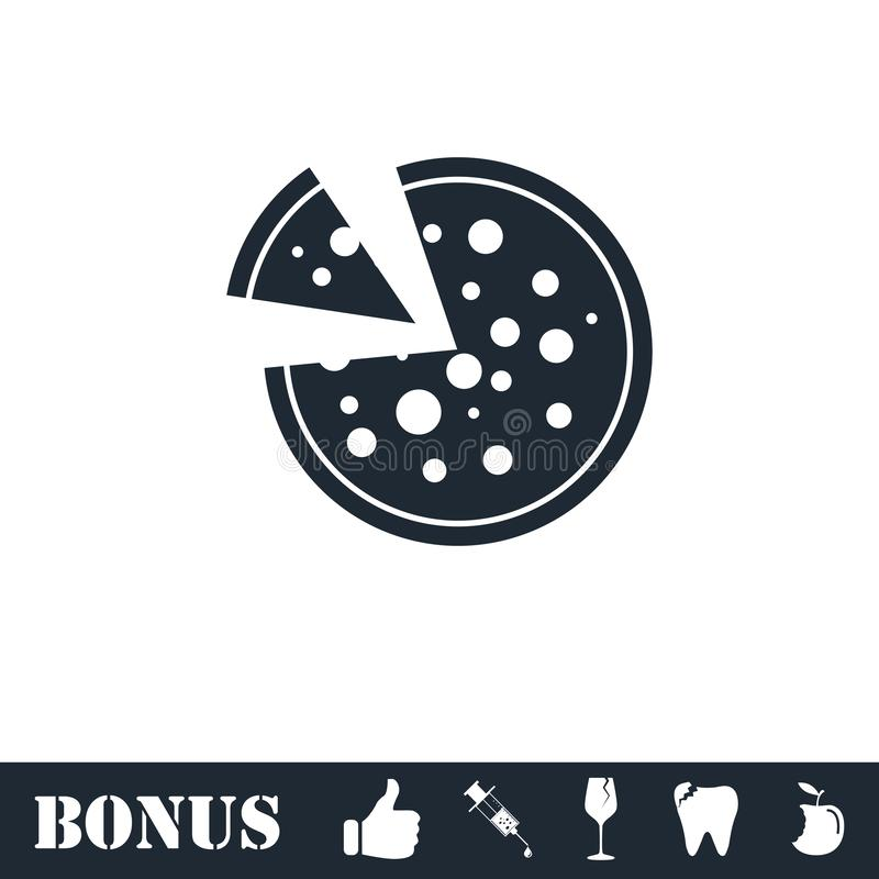 Pizza icon icon flat royalty free illustration