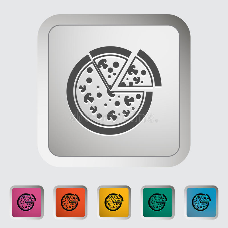Pizza icon. Pizza. Single icon Vector illustration royalty free illustration