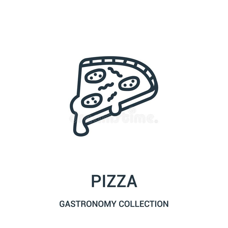 pizza icon vector from gastronomy collection collection. Thin line pizza outline icon vector illustration stock illustration