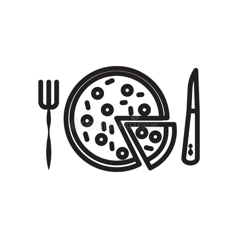 Pizza icon vector isolated on white background, Pizza sign , linear symbol and stroke design elements in outline style vector illustration