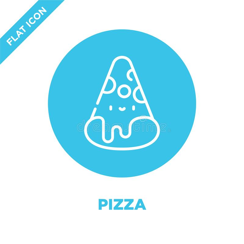 pizza icon vector from take away collection. Thin line pizza outline icon vector  illustration. Linear symbol for use on web and royalty free illustration
