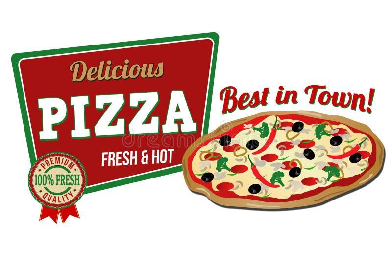 Pizza icon. On white background, vector illustration royalty free illustration
