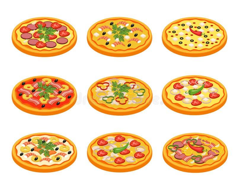 Pizza Icons Set royalty free illustration