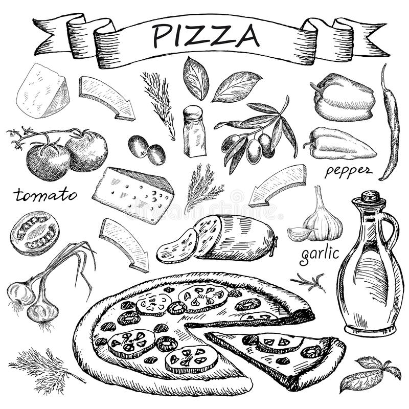 Pizza ingredient stock photography