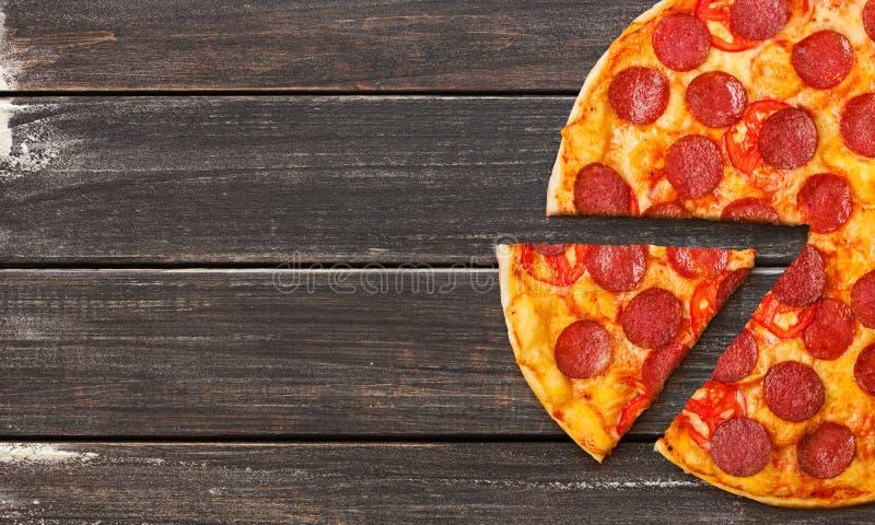 Pizza a ir conceito imagens de stock