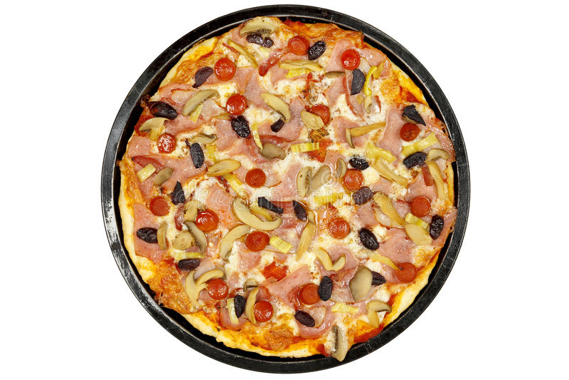 Pizza isolada foto de stock royalty free