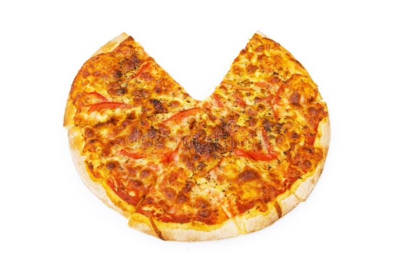 Download Pizza isolada no branco foto de stock. Imagem de cozido - 12811638