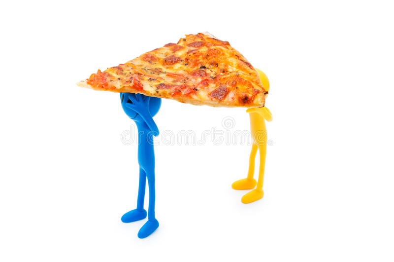 Download Pizza isolada no branco foto de stock. Imagem de faca - 12811698