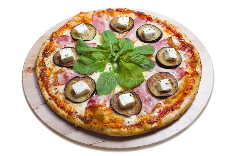 Pizza isolata fotografia stock