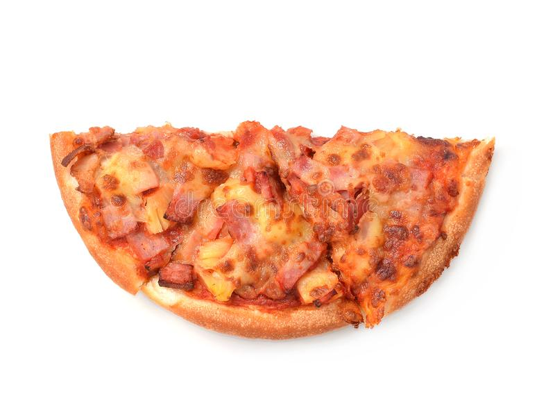 Pizza isolated on white background royalty free stock photo