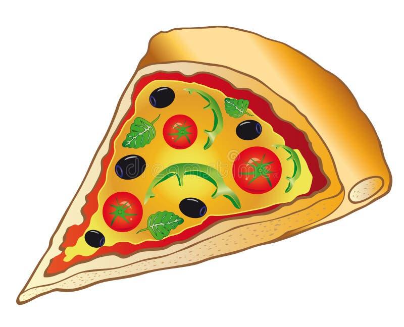 Pizza, Italiaans voedsel royalty-vrije illustratie