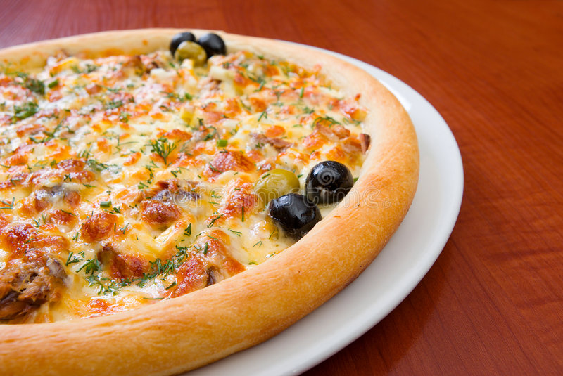 Download Pizza and italian kitchen. stock image. Image of crust - 7432255