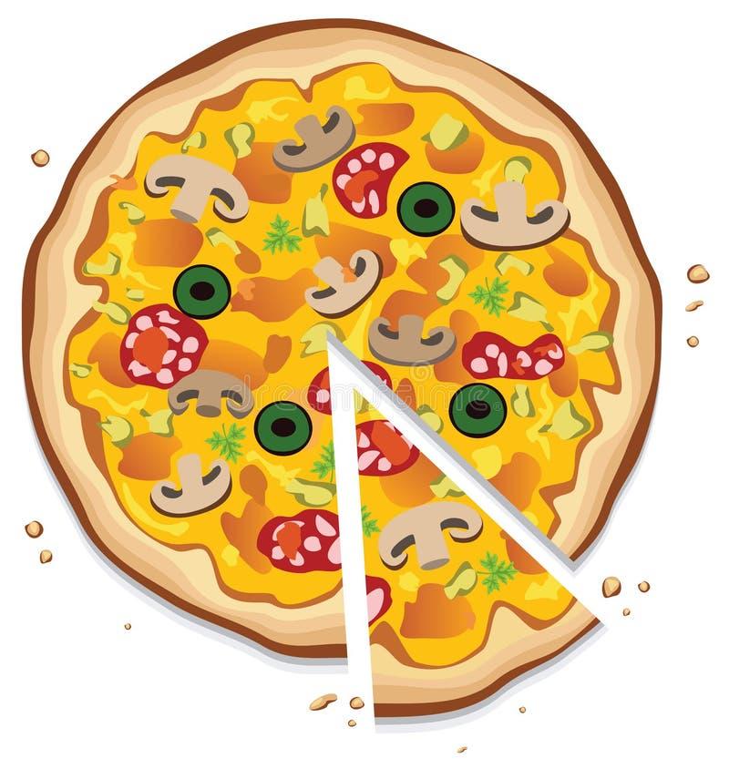 Pizza italiana ilustração stock