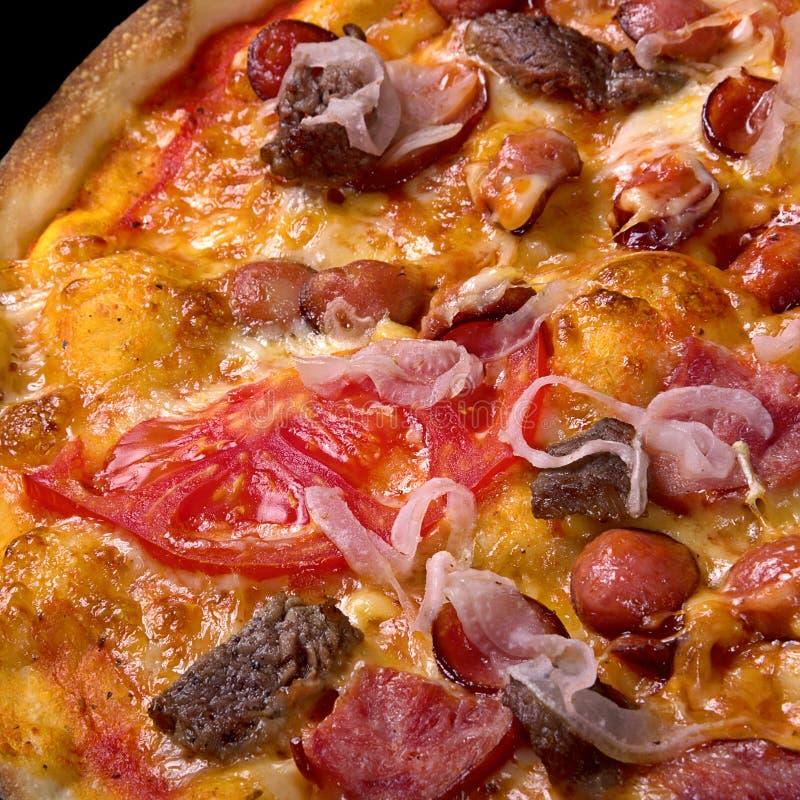 Pizza italiana do alimento fotografia de stock