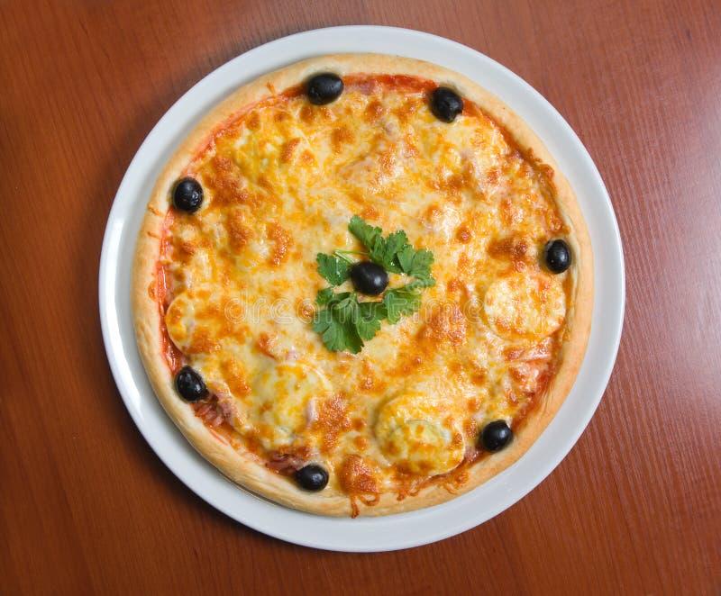 Pizza italiana saboroso fotografia de stock