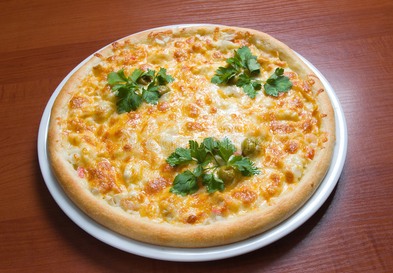 Pizza italiana saboroso imagem de stock