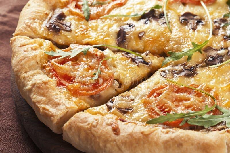 Pizza saporita fotografia stock libera da diritti