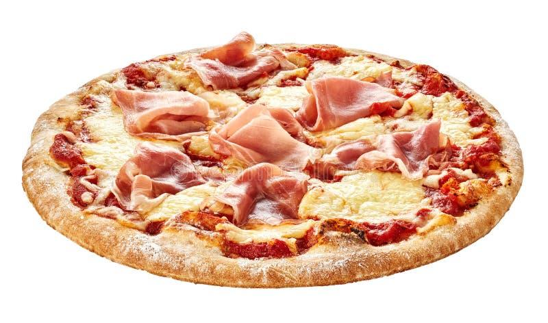 pizza italienne traditionnelle avec du jambon de prosciutto photo stock image du laiterie. Black Bedroom Furniture Sets. Home Design Ideas