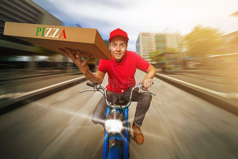 Pizza-Kerl lizenzfreies stockfoto