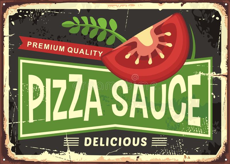 Pizza kumberlandu metalu retro znak ilustracja wektor