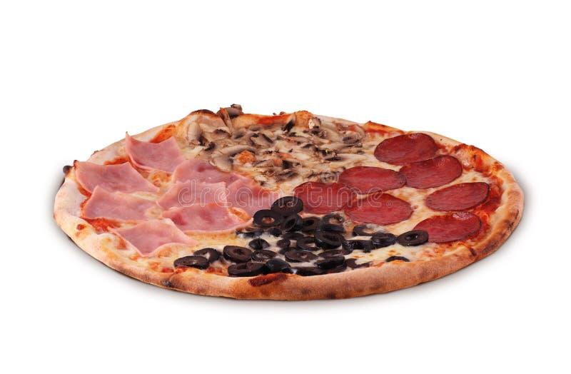 Pizza Le Quattro Stagioni royaltyfri fotografi