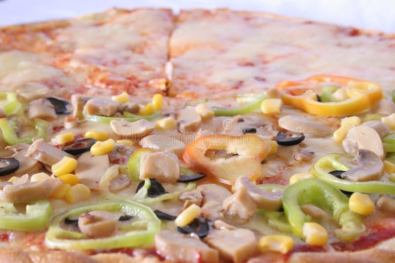 Pizza leggera fotografia stock