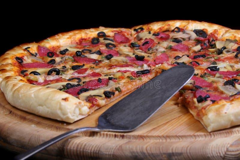 Pizza leggera fotografie stock