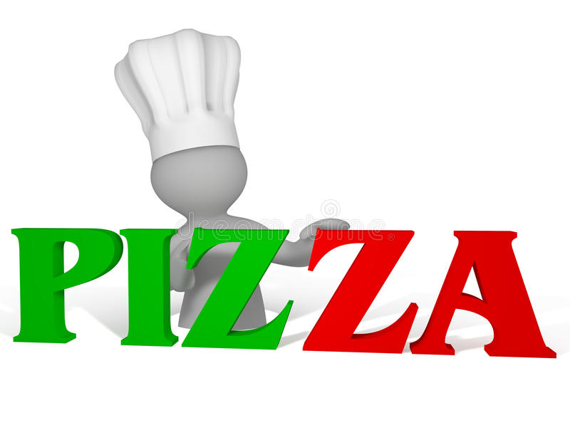 Download Pizza logo stock illustration. Image of logo, person - 21632932
