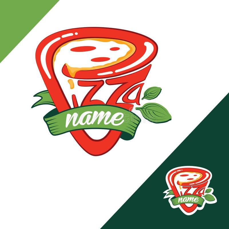 Pizza-Logo stockfotos