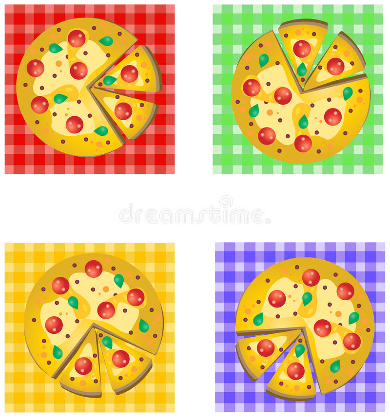 Pizza Logo Design immagini stock libere da diritti