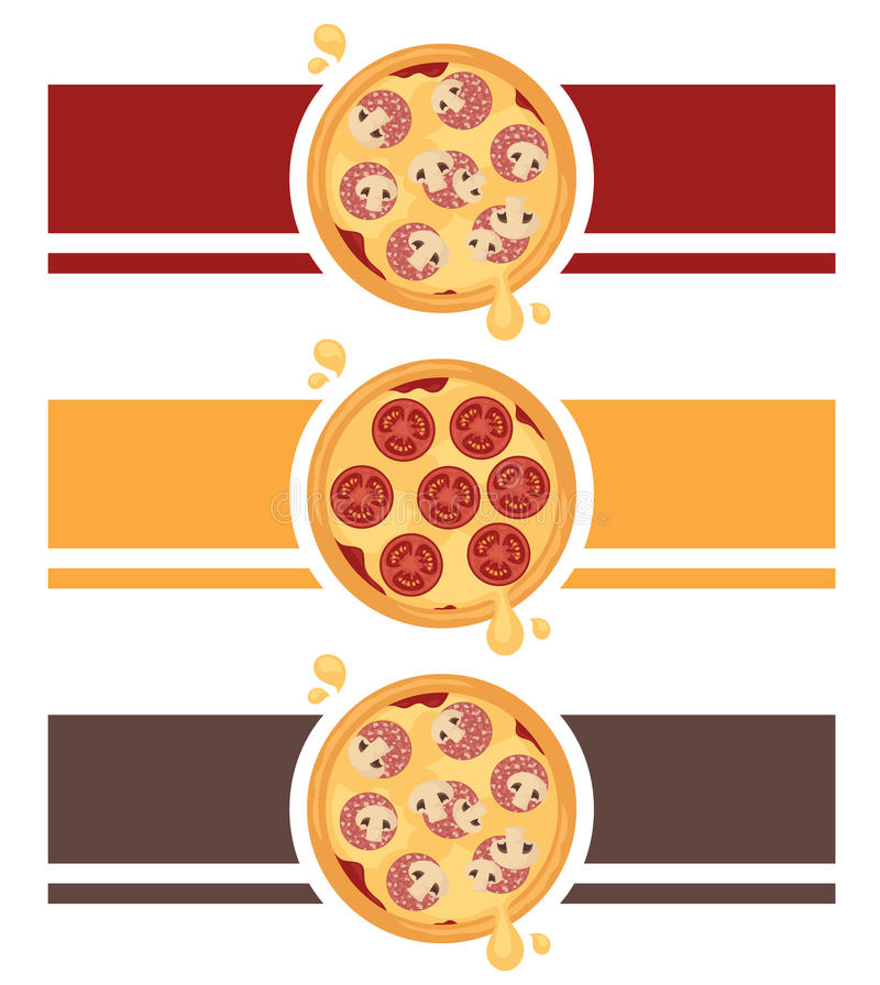 Pizza Logo Design stock image