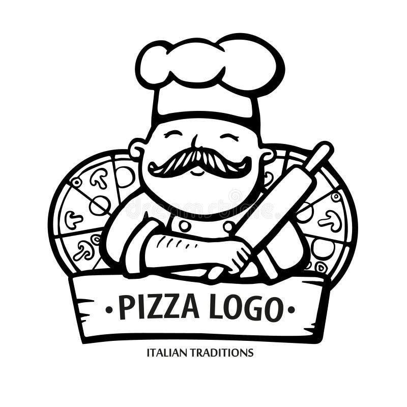 Italian Restaurant Logo With Flag: Italian Mustache Symbol Stock Illustration. Illustration