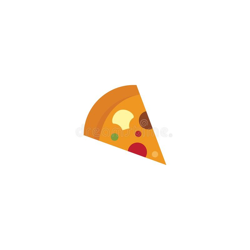 Pizza logo. Ilustration vector template, dinner, vintage, cuisine, courier, bar, baking, express, fast, food, corner, junk, tasty, fresh, fastfood, cheese, chef royalty free illustration