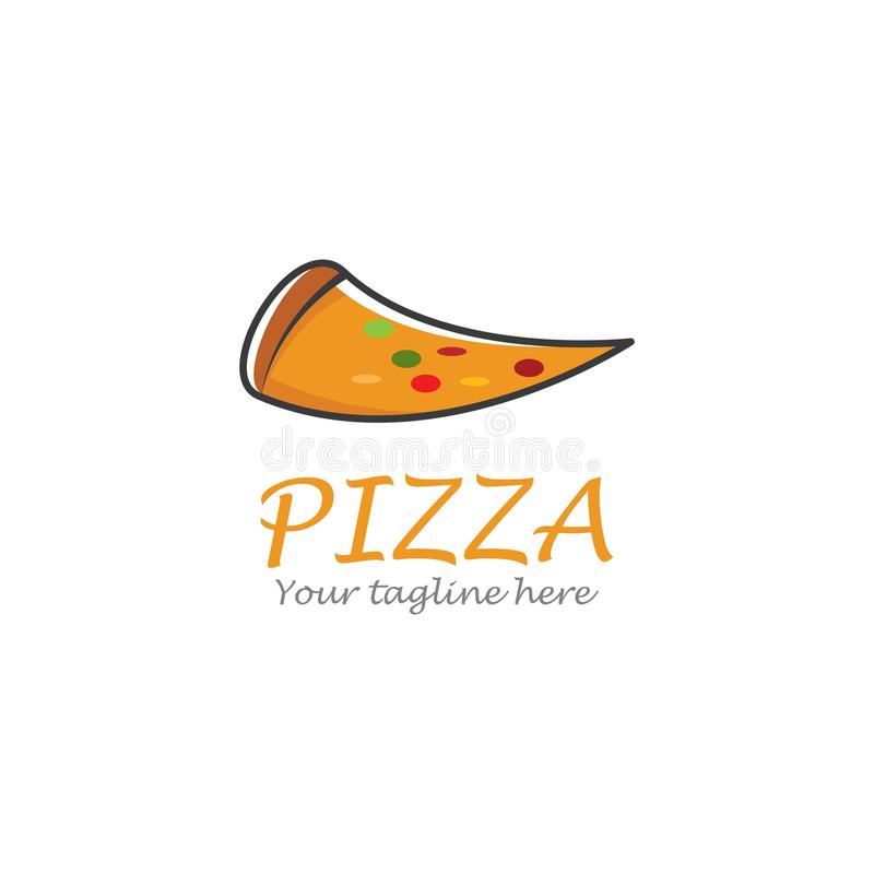 Pizza logo. Ilustration vector template, dinner, vintage, cuisine, courier, bar, baking, express, fast, food, corner, junk, tasty, fresh, fastfood, cheese, chef stock illustration