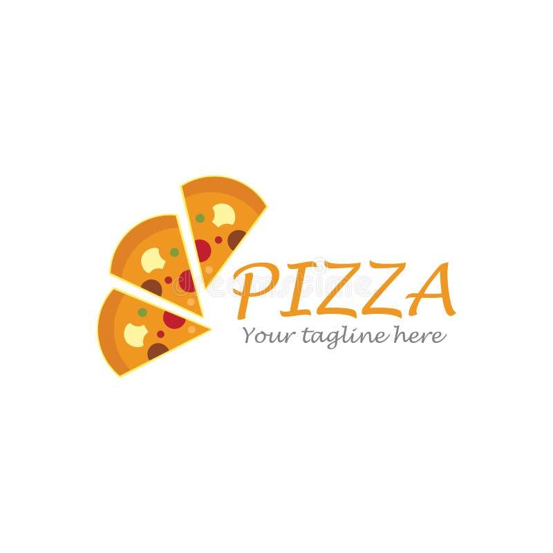 Pizza logo. Ilustration vector template, dinner, vintage, cuisine, courier, bar, baking, express, fast, food, corner, junk, tasty, fresh, fastfood, cheese, chef vector illustration