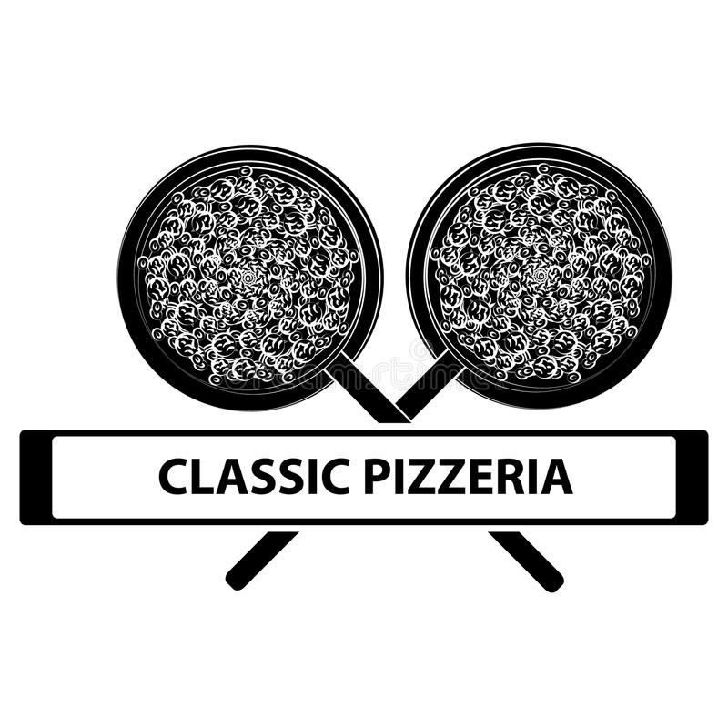 Pizza logo isolated on white backgroun. Food and cookingg. Pizza logo isolated on white backgroun. Food and cooking. Vector illustration stock illustration