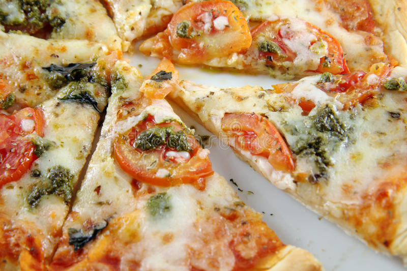 Download Pizza Margarita stock image. Image of main, cooked, cuisine - 15159633